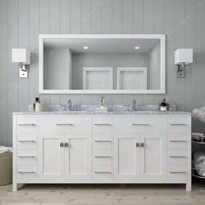 Large double sink bathroom cabinet