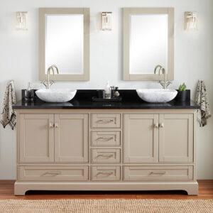 Large double sink bathroom vanity