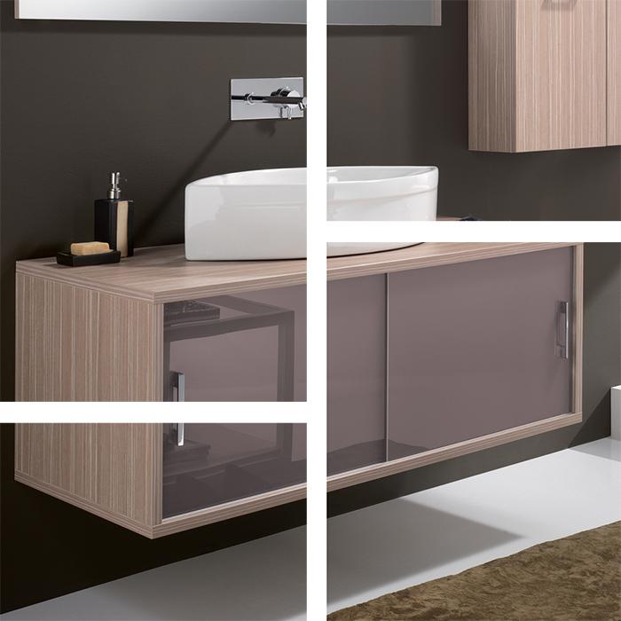 Modern wall mount bathroom vanity