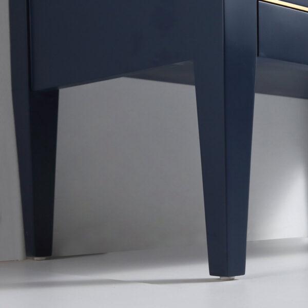 Dowell 48-Inch Bath Vanity Matte Blue 031 48 0615 Gold-Handle