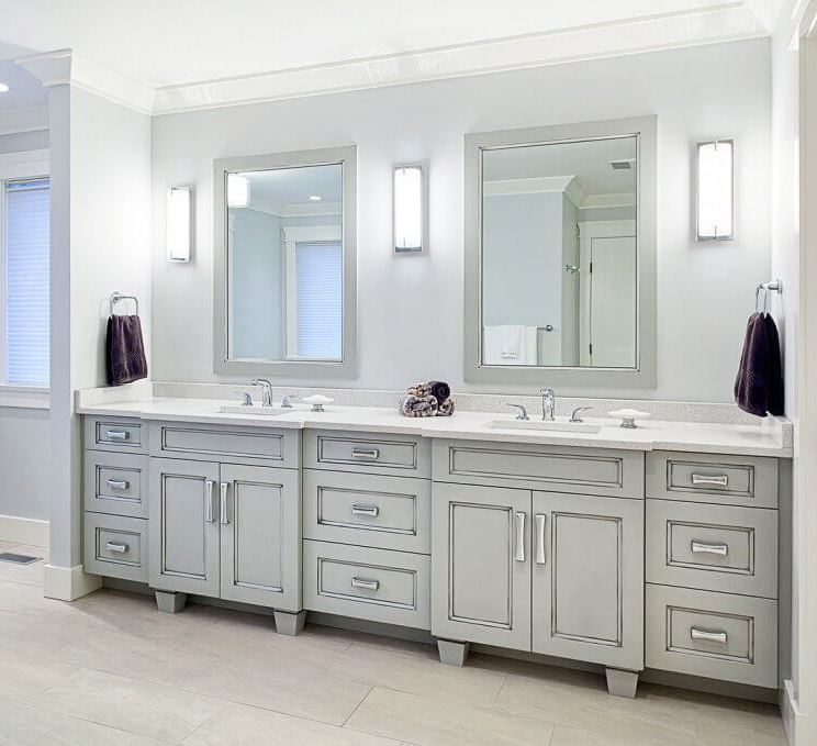 Long Bathroom Vanity