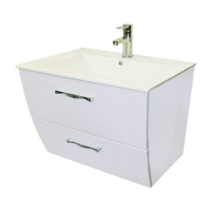 Socimobel London 32 Inch Wall Mount Vanity White Color Ceramic Sink