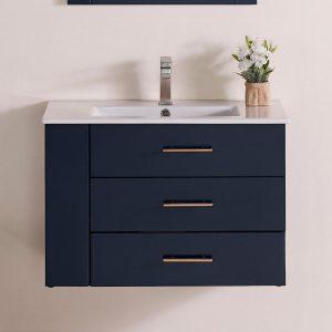 30 Inch Floating Bathroom Vanity Color Marine Blue 1906-30L-04 Left Side Shelf