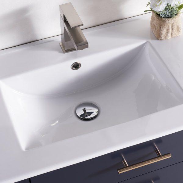 30 Inch Floating Bathroom Vanity Color Marine Blue 1906-30L-04 Left Side Shelf 5