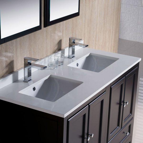 Fresca FVN20-2424ES Oxford 48 Inch Traditional Double Sink Bathroom Vanity in Espresso 3