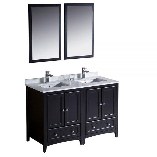 Fresca FVN20-2424ES Oxford 48 Inch Traditional Double Sink Bathroom Vanity in Espresso 4
